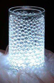 Another Centerpiece Idea Vase With Marbles Then Another Vase With Uplighting Water Beads Centerpiece Water Beads Wedding Vases