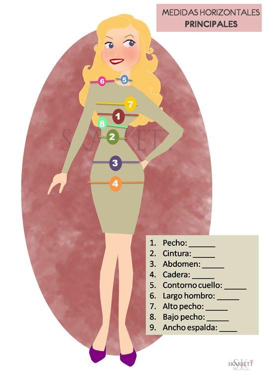 Medidas vestido mujer