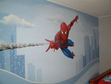 Captivating Modern Spiderman Wall Murals Ideas Excited Spiderman Wall Decals