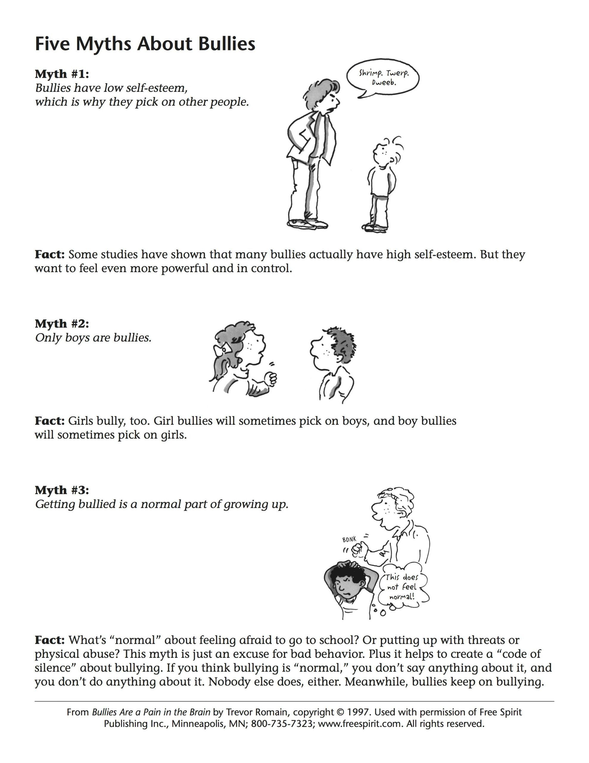 small resolution of Printable Bullying Worksheets   Kids worksheets printables