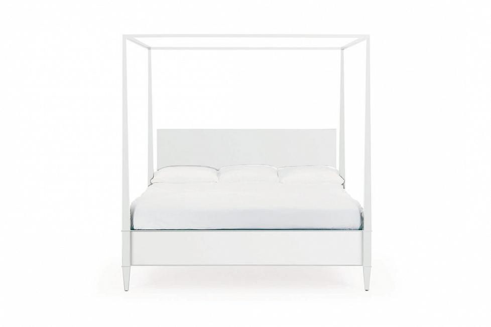 Bolier - Rosenau Queen Panel Bed with Posts White Lacquer 56020
