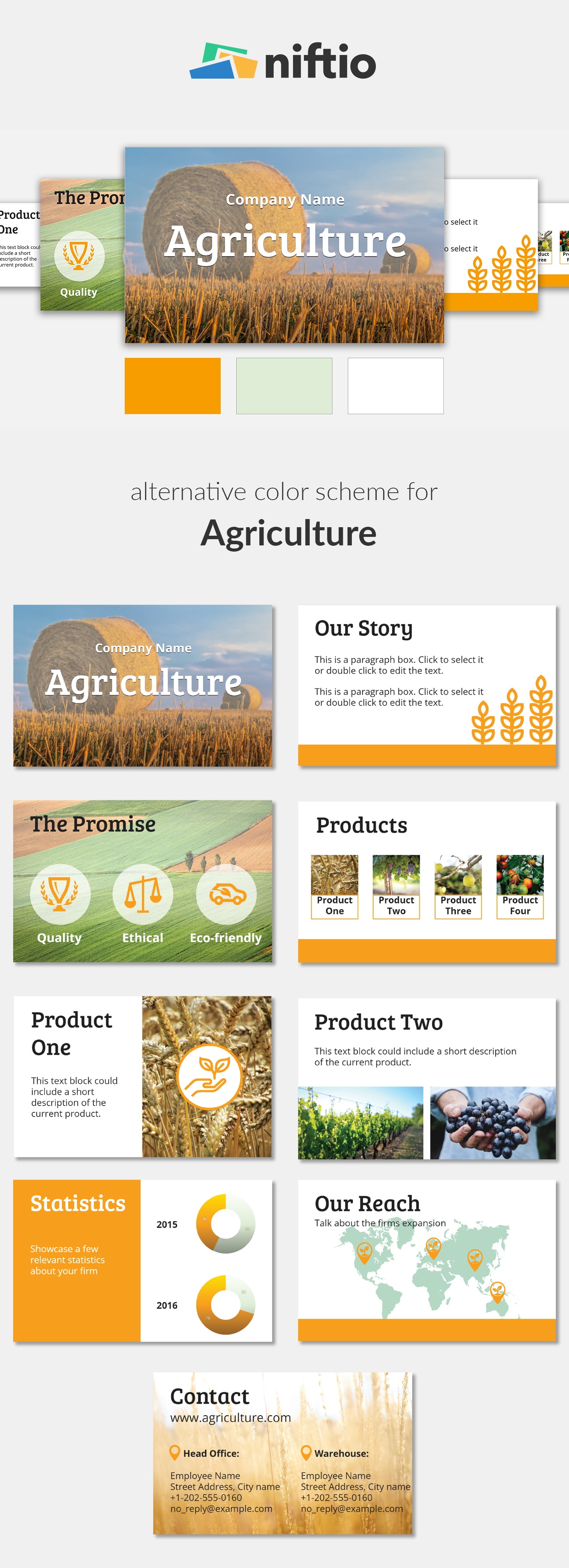agribusiness presentation template | agriculture alternative color, Presentation templates