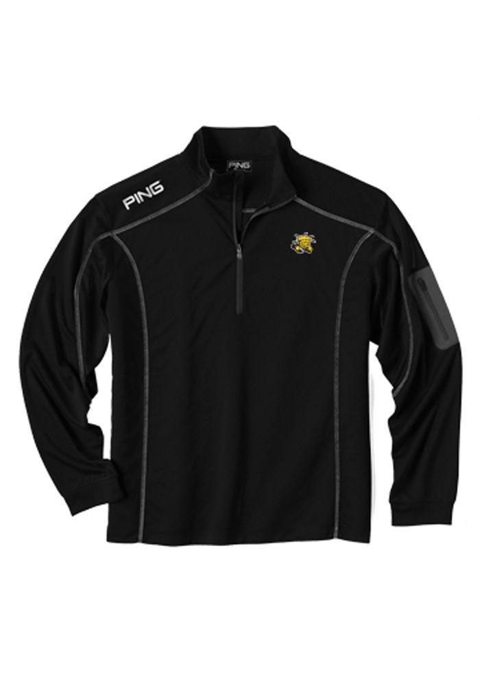 Wichita State Shockers Ping 1 4 Zip Pullover - Mens Black Ranger Long  Sleeve Pullover e88ef4645