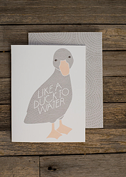 Duck to Water Card  via Fancy HuLi | Designer Gift Shop for Animal Lovers