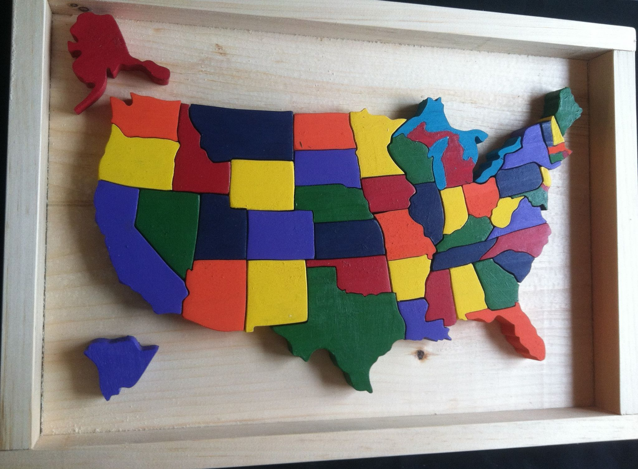 Wooden United States Map Puzzle