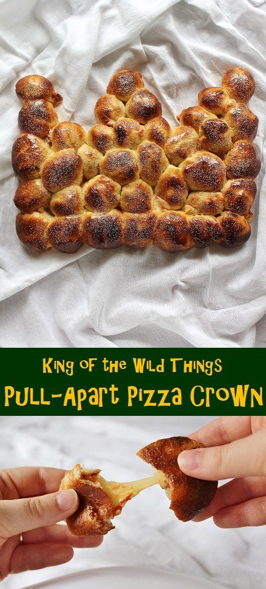 King of the Wild Things: Pull-Apart Pizza Crown - Alison's Wonderland Recipes