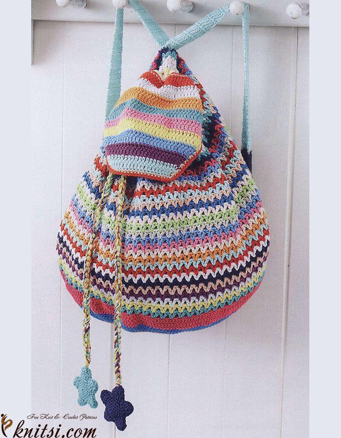DIY: crochet backpack | Craft & DIY | Pinterest | Häkeln, Häkeln ...