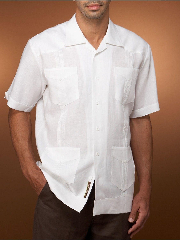100 Linen Short Sleeve Guayabera Cubavera Mens Style Guide Menswear Mens Fashion