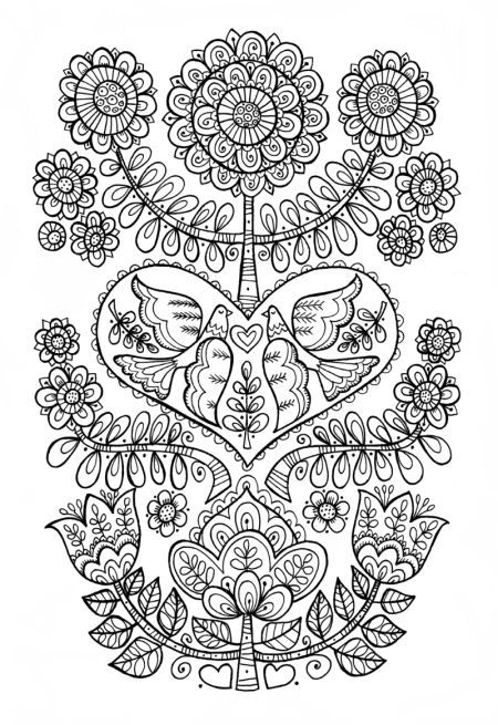 Cindy Wilde Scandi Folk Art Colouring