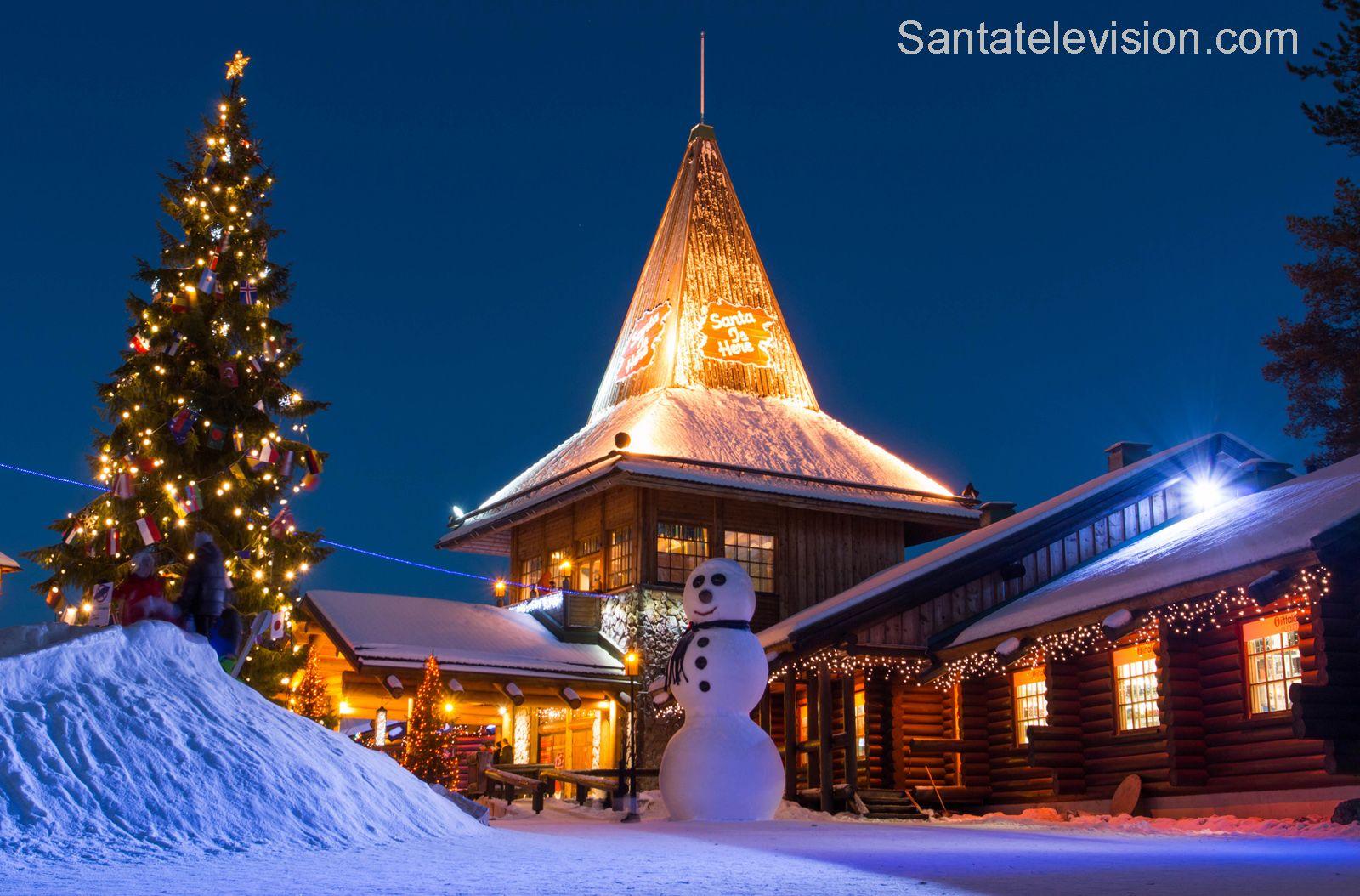 Büro des Weihnachtsmannes in Rovaniemi am Polarkreis