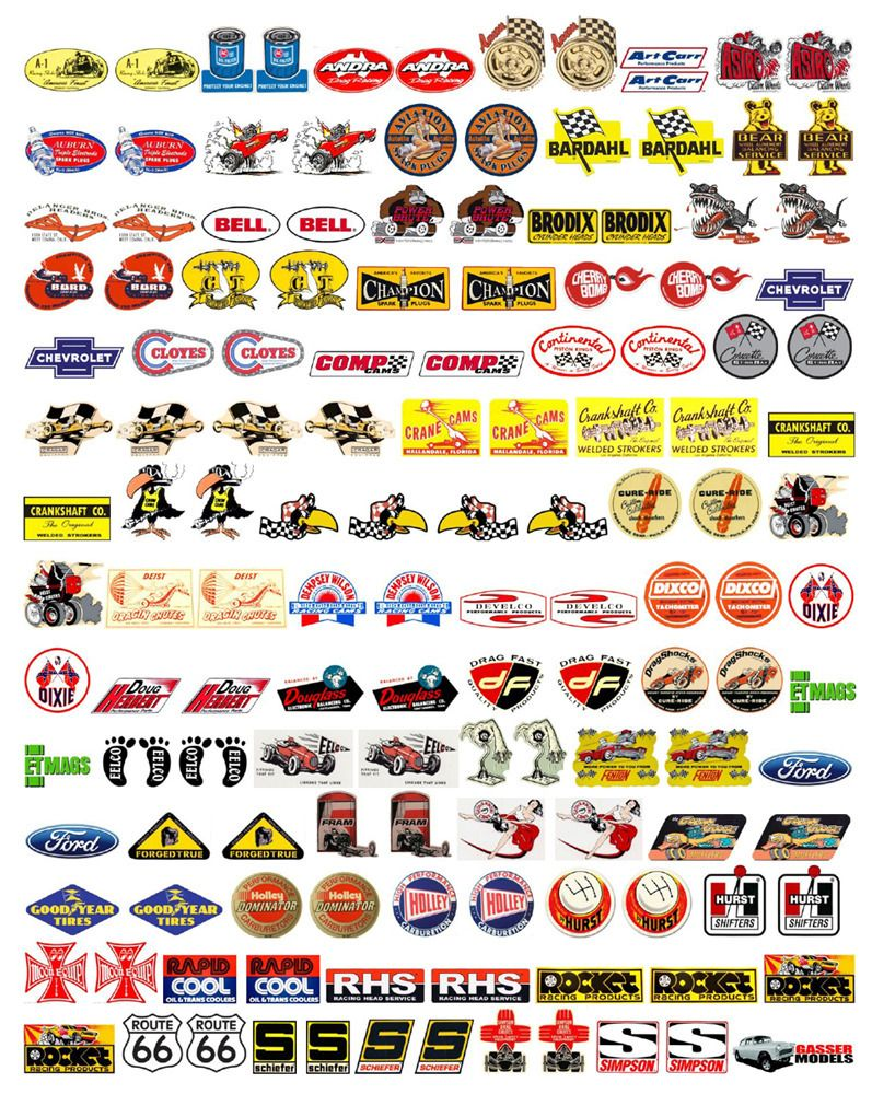 1 18 Speed Equipment Decals Vol 2 Slot Cars Diecast Model Cars Car Decals