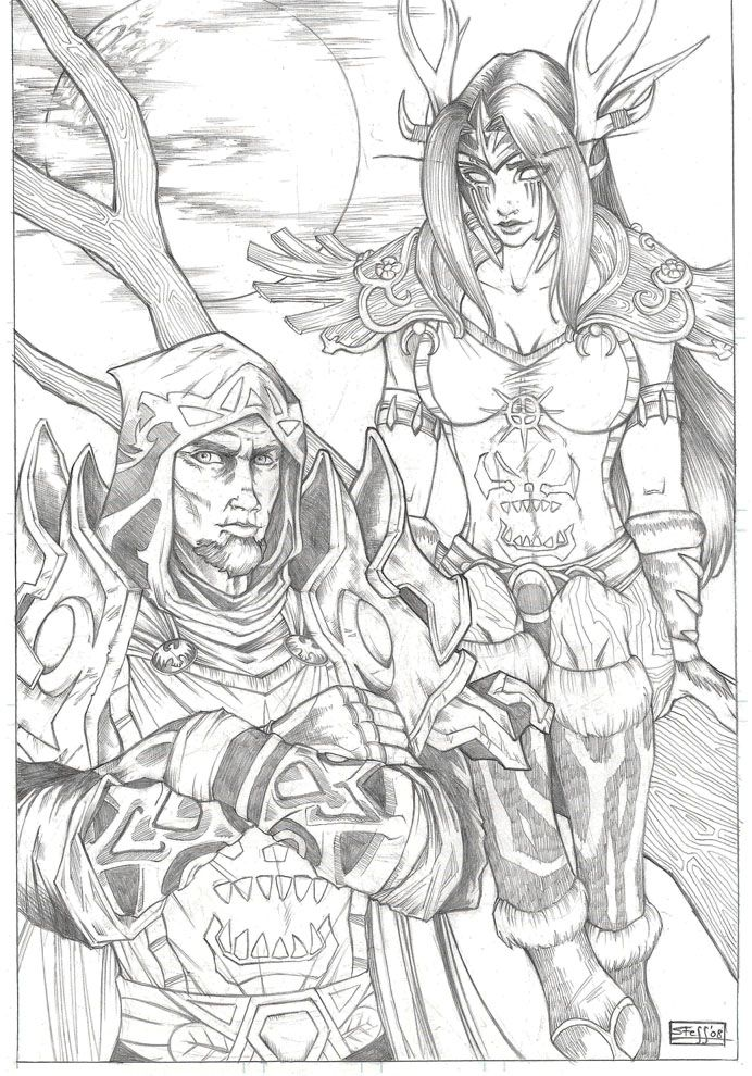 About Me Contact Coloring Pages World Of Warcraft Characters World Of Warcraft