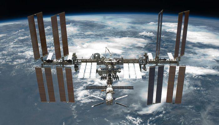 International Space Station after undocking