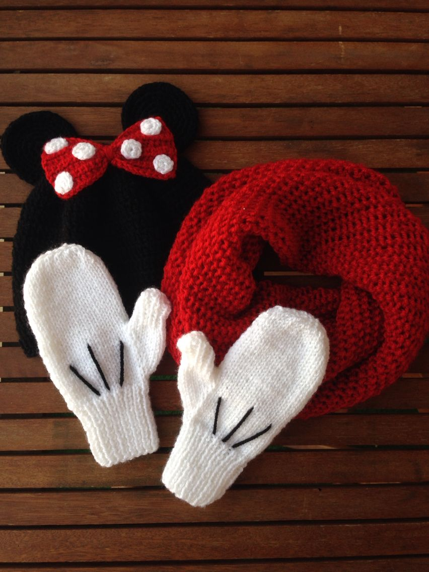 Mickey mouse boyunluk bere ve eldiven | Selinceşeyler ...