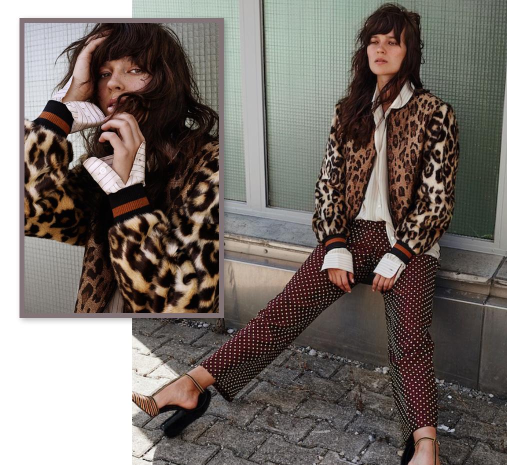 Dries Van Noten Leopard Bomber Jacket, Striped Blouse & Pants ...