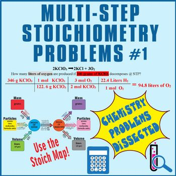 This Worksheet Features  One Two And Three Step Stoichiometry