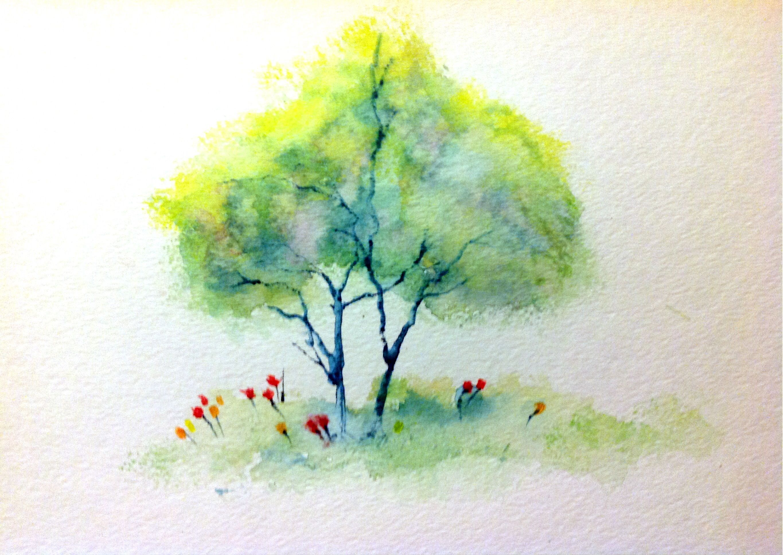 watercolor tree tattoo | Tattoo ideas | Pinterest | Watercolor tree ...