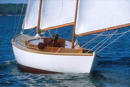 L.Francis Herreshoff's pass into heaven; Rozinante, arguably the most pure sailing experience ever...so I am told.