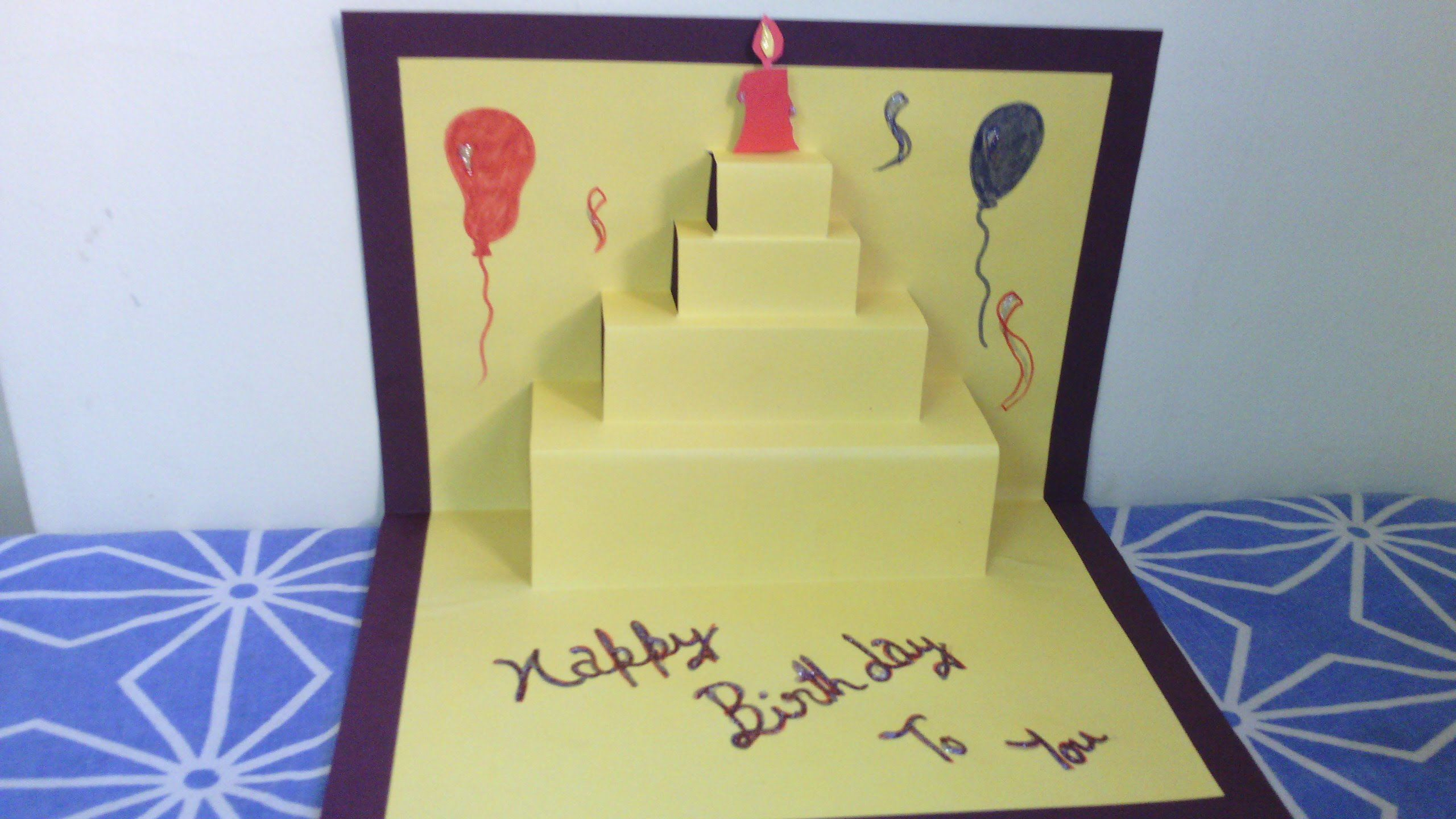 Birthday Cards For Friends This Is A Very Simple And Attractive Handmade Pop Up Card We