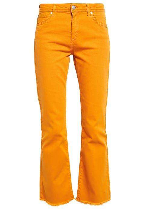 Mint&Berry Flared Jeans inca gold yellow orange pants jeans broek spijkerbroek goud oranje geel Zalando.nl