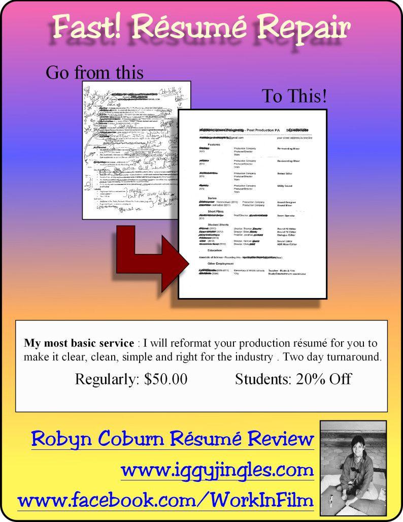 Fast! Résumé Repair I will reformat your rés for you