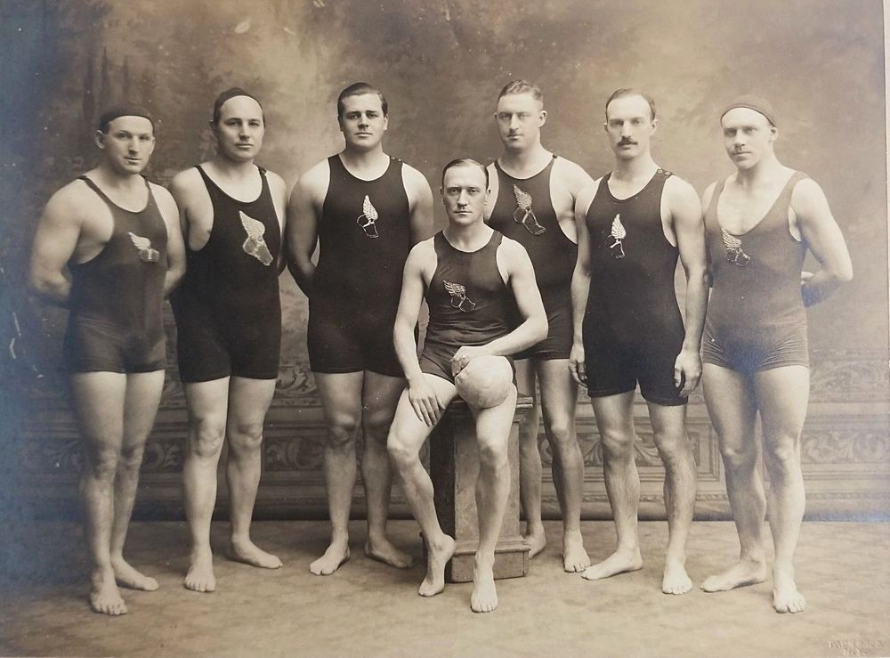 New York Athletic Club Antique Photo Water Polo Sports