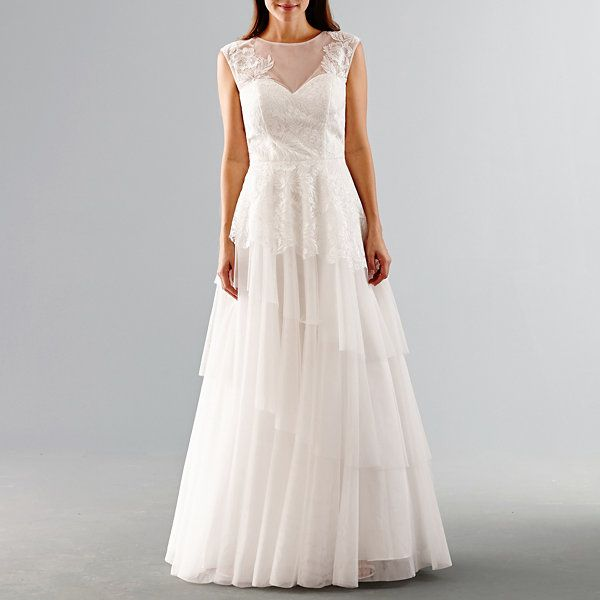 One By Eight Sleeveless Wedding Gown (With Images