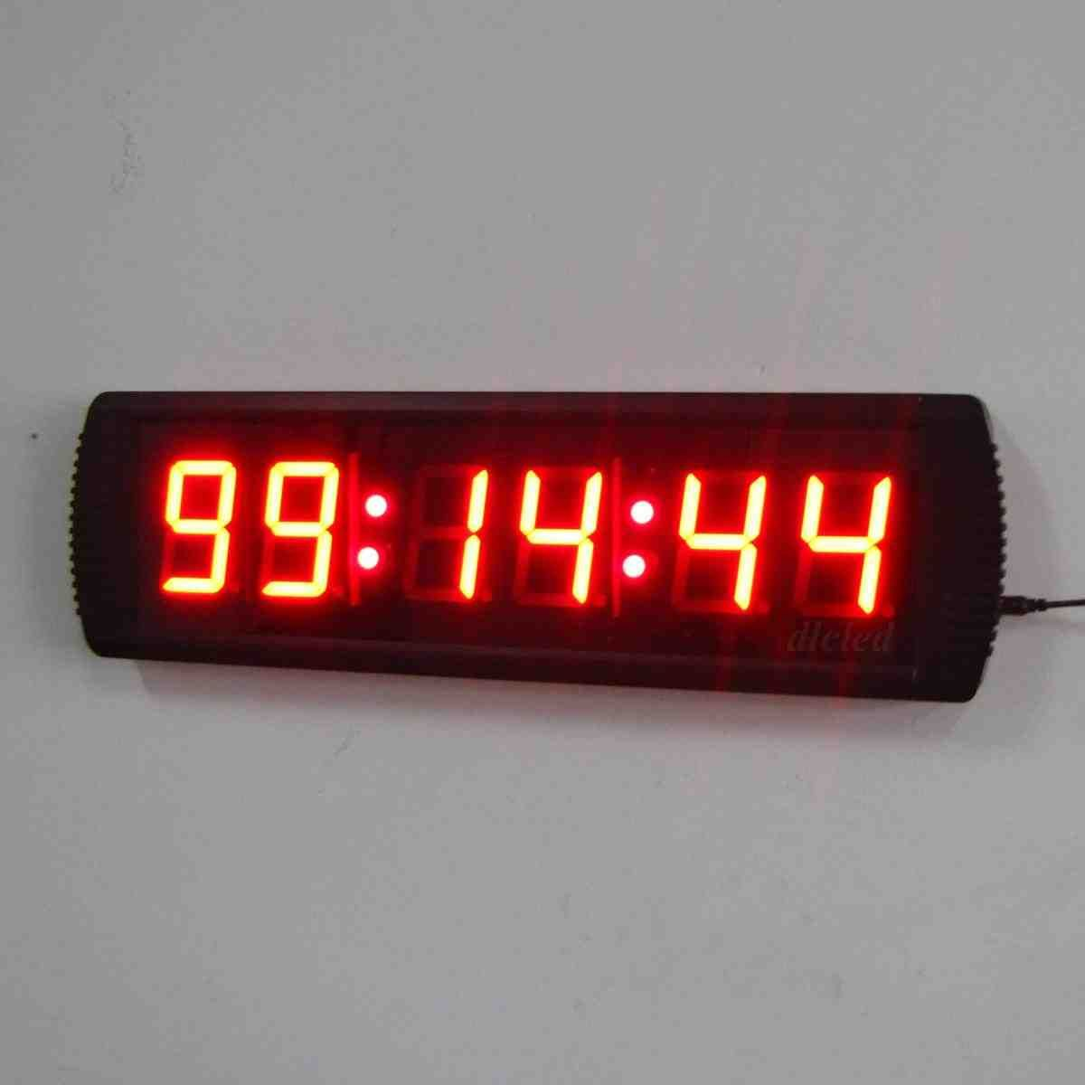 Large digital wall clock with seconds digital wall clock large digital wall clock with seconds amipublicfo Gallery
