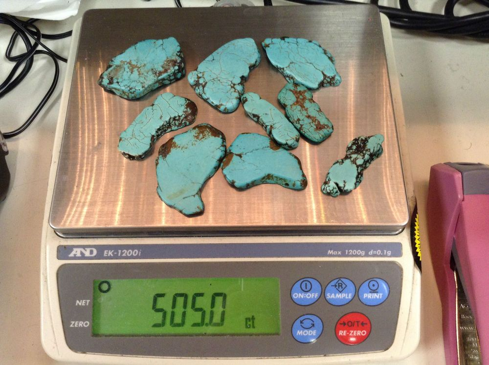 Natural Rough Turquoise 505 ct Jewelers Dream! Multiple Pieces - Turquoise Lot