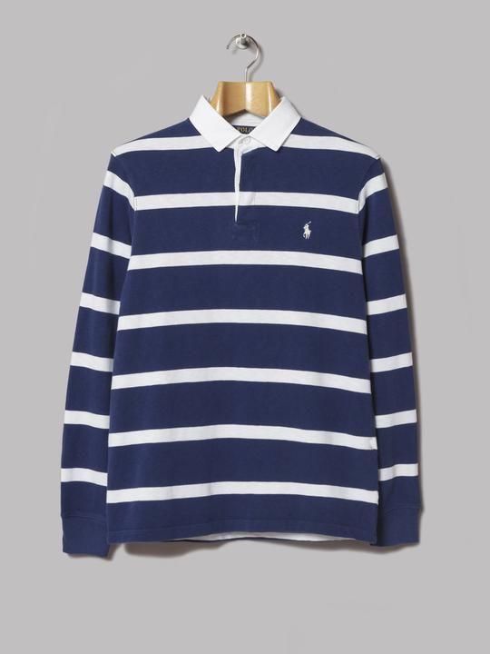 44c6c782c Polo Ralph Lauren Striped Rugby Shirt (Blue   White)