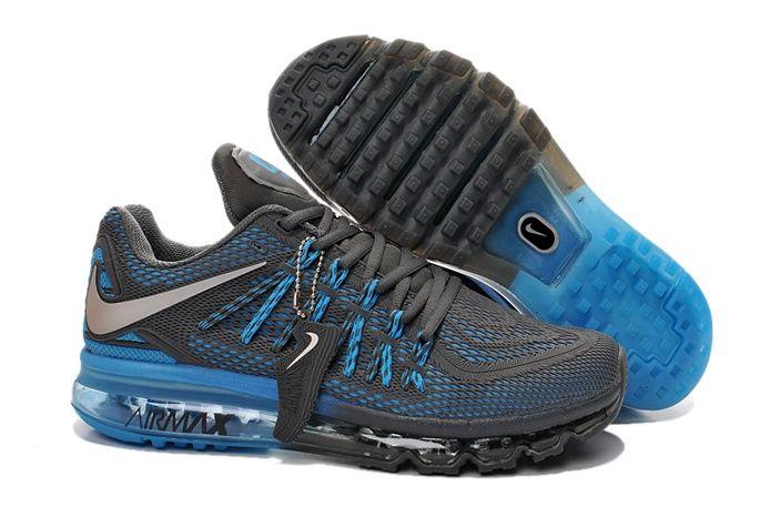 Nike Air Max 2015 Mens Shoes Charcoal Gray Blue