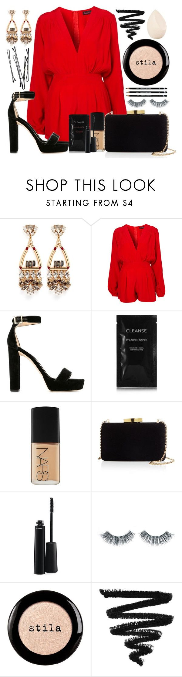 """#37"" by oneandonlyfashion ❤ liked on Polyvore featuring Anton Heunis, Motel, Jimmy Choo, Cleanse by Lauren Napier, NARS Cosmetics, Kayu, MAC Cosmetics, BOBBY, Napoleon Perdis and Stila"