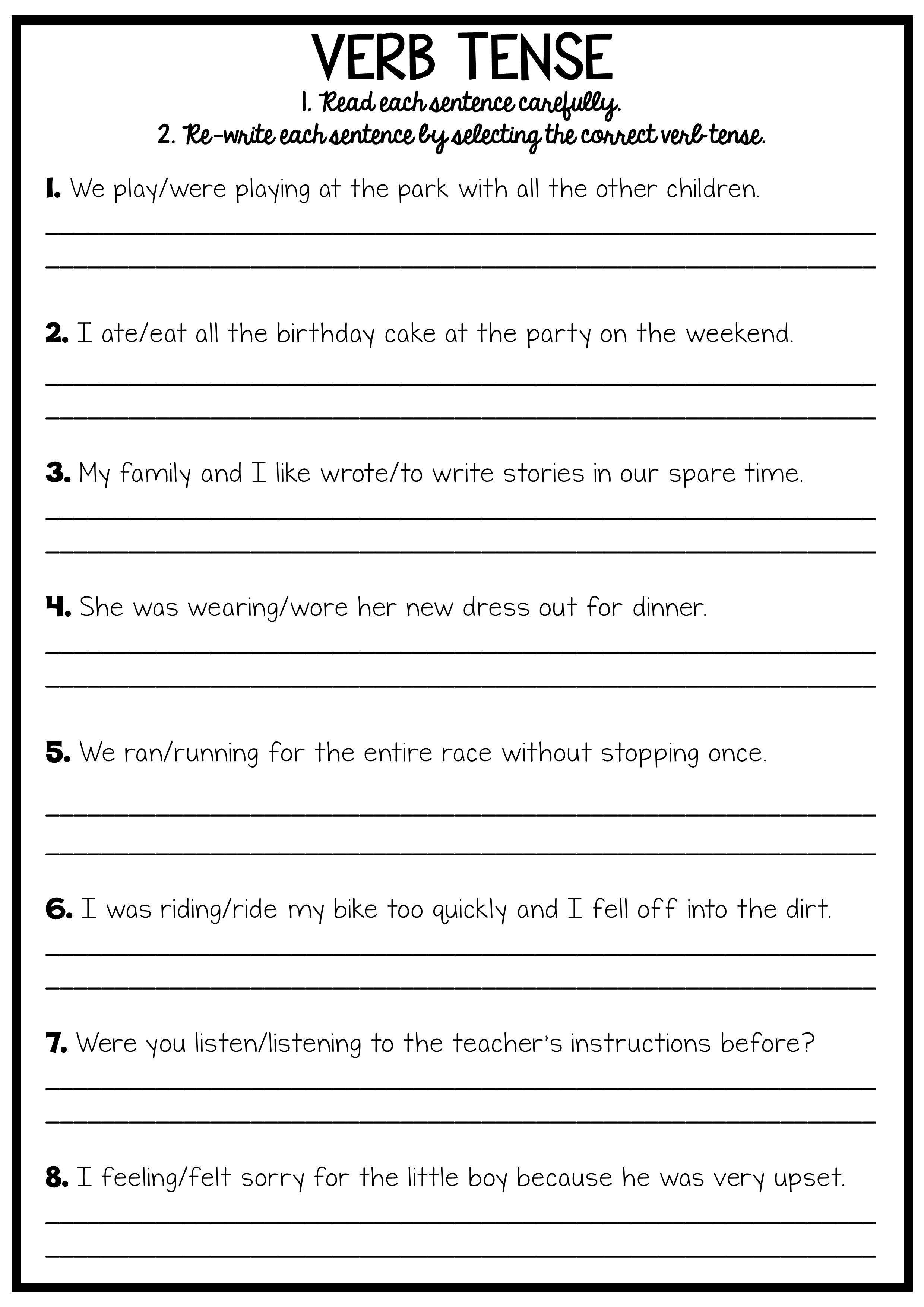 Reading And Grammar Pack No Prep Printables Teaching English Grammar Grammar English Grammar Worksheets