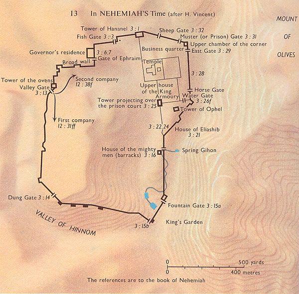 nehemiah map jerusalem  Jerusalem  Pinterest  Jerusalem Bible