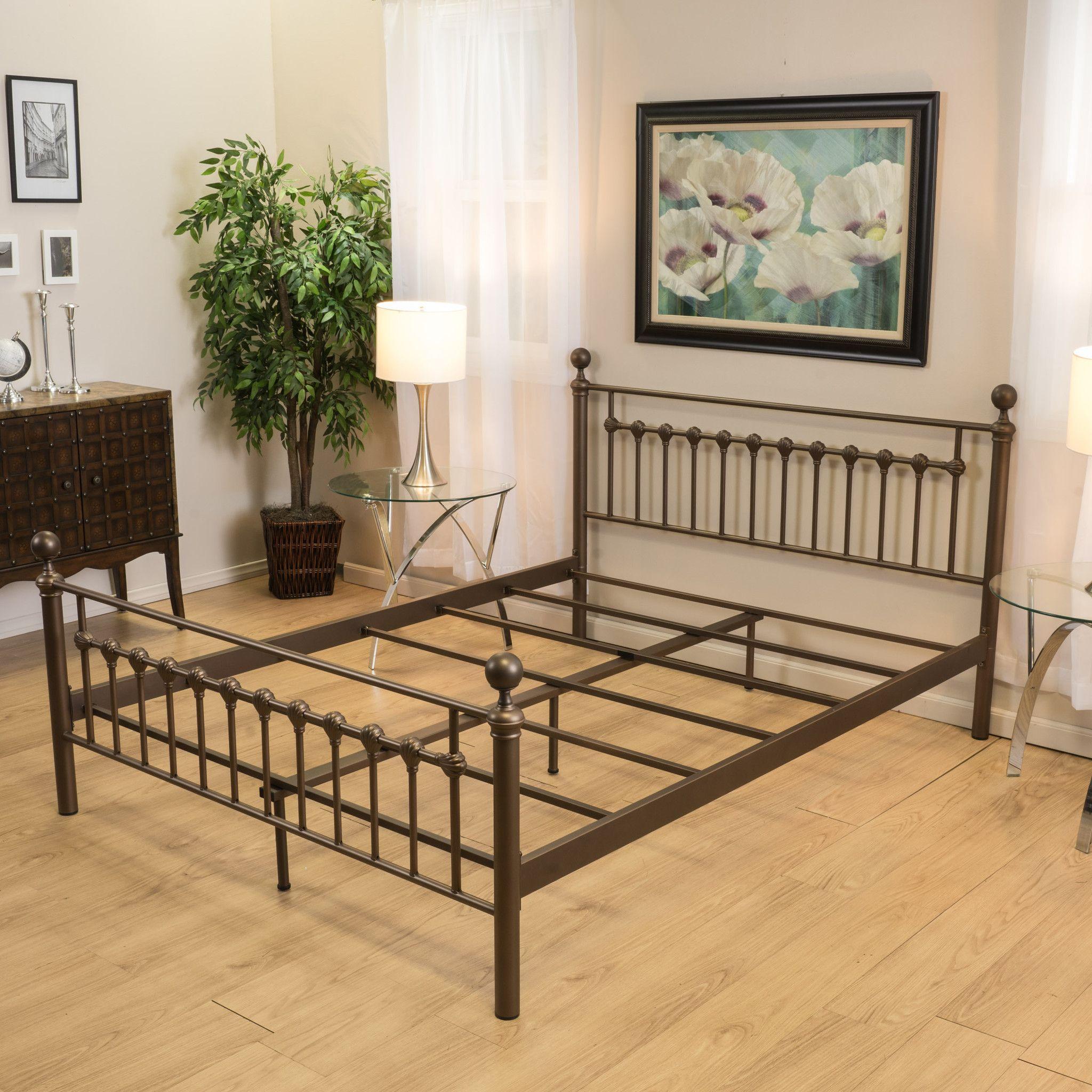 Bradford Queen Size Brown Bed Frame   Muebles de hierro, Hierro ...