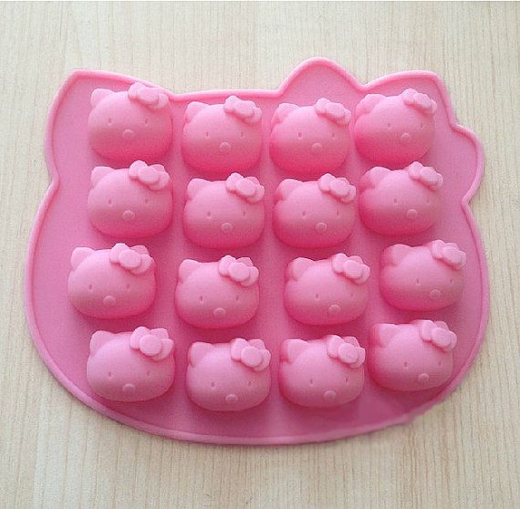 For Melted Crayons Hello Kitty Silicone Soap Mold Cake Mold