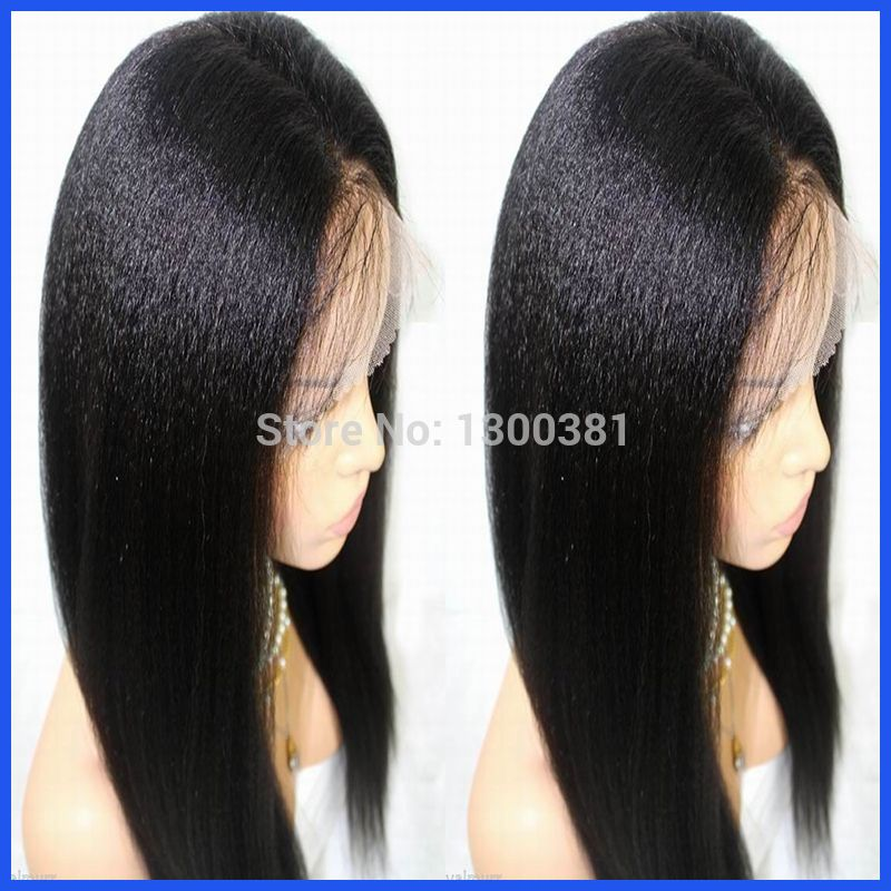 Find More Wigs Information about Free Shipping Virgin Peruvian Human Hair Kinky Straight Glueless 4''*4'' Silk Top Full Lace Wigs With Baby Hair For Black Women,High Quality hair wigs black women,China hair products natural curly hair Suppliers, Cheap wig hair pins from Gorgeous Summer Hair Store on Aliexpress.com