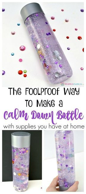 The Foolproof Way to Make a Calm Down Bottle #sensorybottles