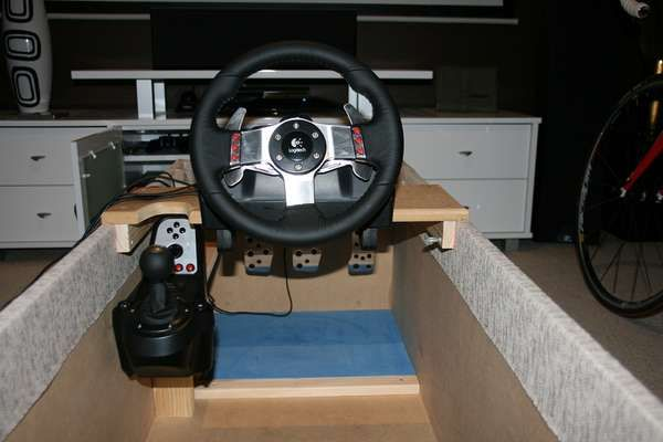 The Ottoman Racing Cockpit is a Box Full of Gaming Surprises #homedecor trendhunter.com