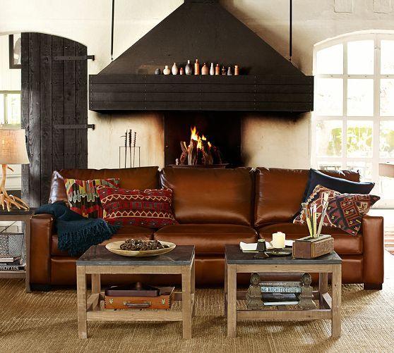 turner leather sofa pottery barn
