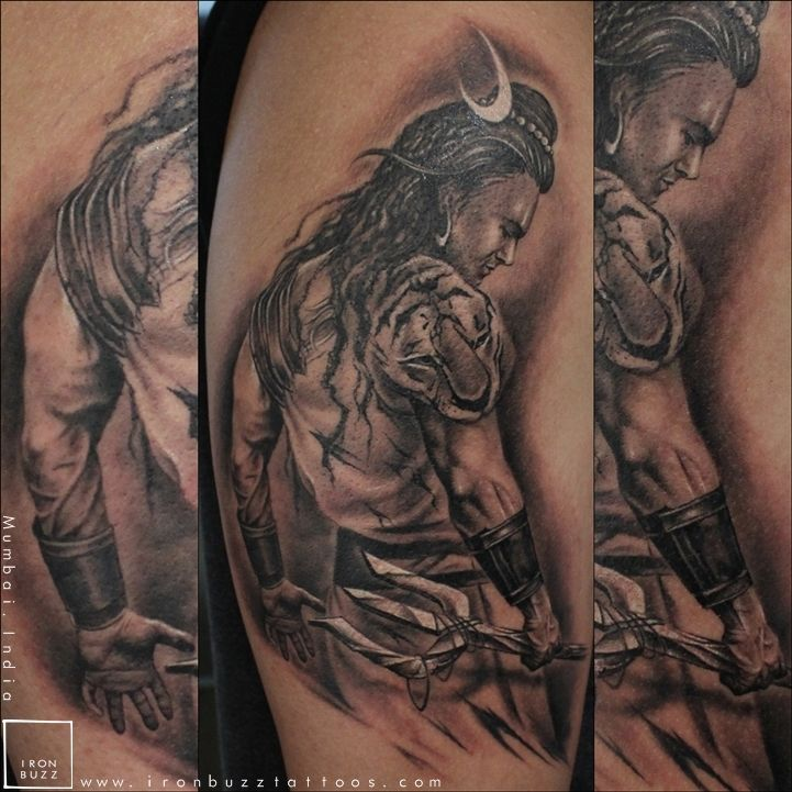 Iron Buzz Tattoos Andheri Mumbai: Lord Shiva Tattoo 'The Lord Is Back' Series By Eric Jason