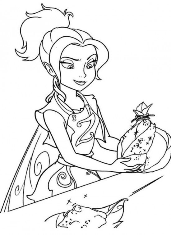Printable Disney's The Tinkerbell Pirate Fairy Coloring ...