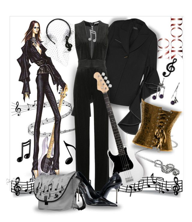 """""""Rock On Diva"""" by wanda-india-acosta ❤ liked on Polyvore featuring RED Valentino, E L L E R Y, Balmain and NOVICA"""