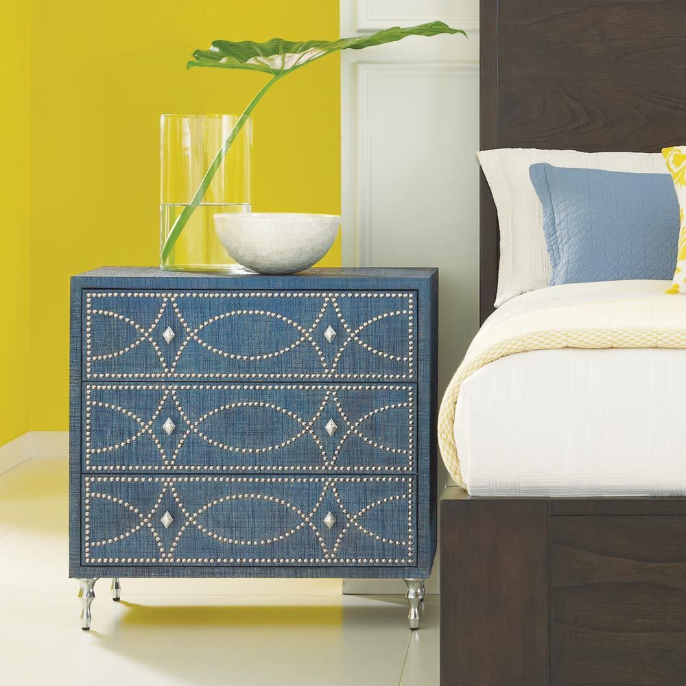 Accents Blue Raffia Chest From HGTV HOME Furniture