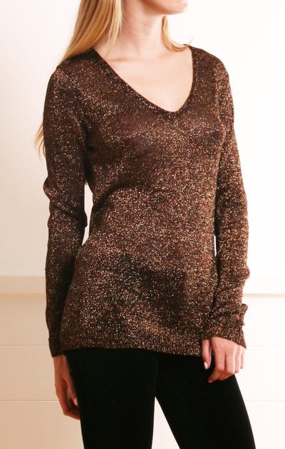 Brown Sparkle Sweater