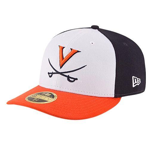 Virginia Cavaliers New Era Front N Center Low Crown Fitted Hat -  White Orange 50fce97eca31