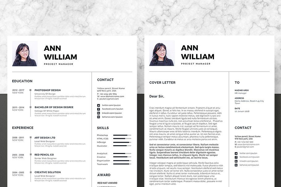 Vol 35 Resume Cv Template With Images Cv Template Resume Cv