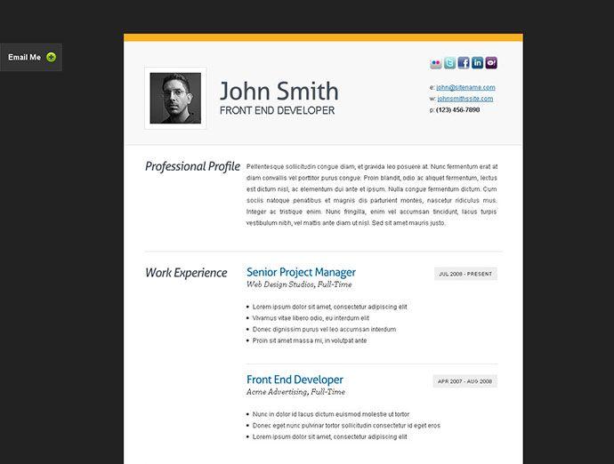Clean cv resume Resume / CV Templates Pinterest Cv resume