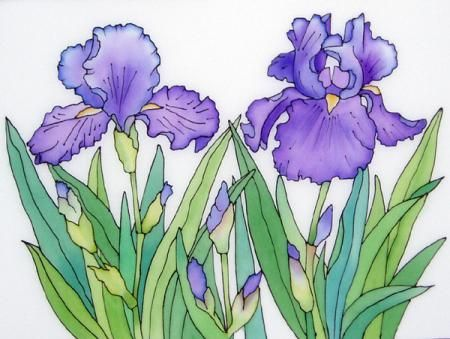 Blue flower bearded iris watercolor irises pinterest flower blue flower bearded iris silk paintingpainting mightylinksfo