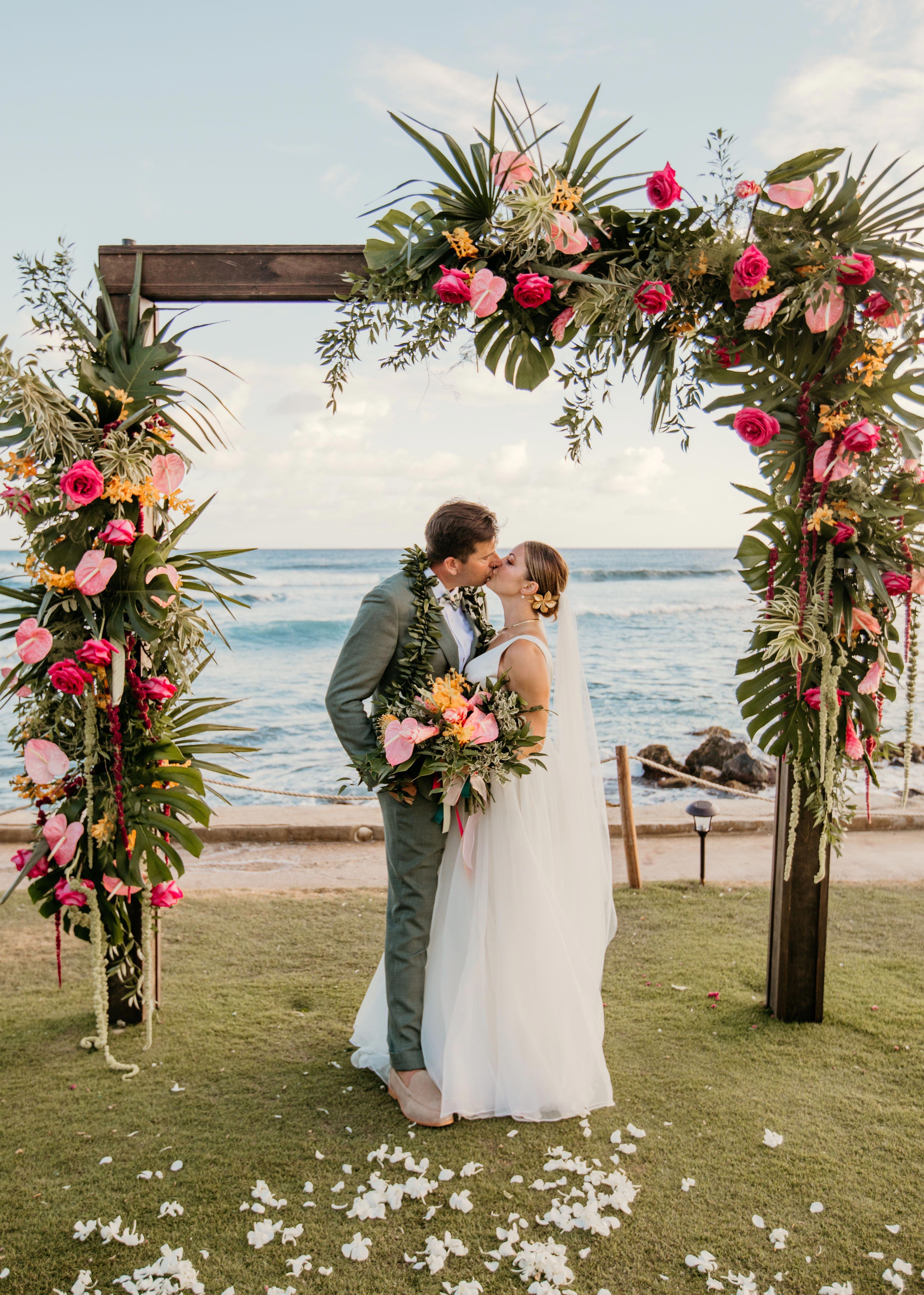 Natacha & Scott   18 Post Ceremony Arch   Oceanfront Wedding ...